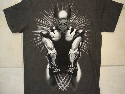Marvel Comics X-Men Wolverine Black and White Picture Soft Dark Gray T Shirt (Wolverine Pictures X-men)
