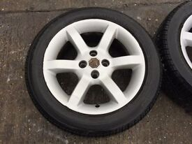 SET OF 4 MG WHEELS & TYRES 15""
