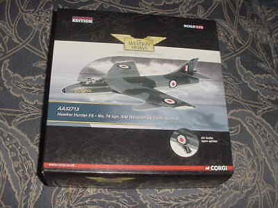"2009 Corgi Diecast Aircraft Model ""Hawker Hunter F.6"",  1:72 Scale MIB"