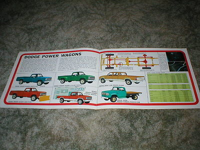 1972 DODGE TRUCKS 4 Wheel-Drive Power Wagons Brochure  4 page original  Pickup