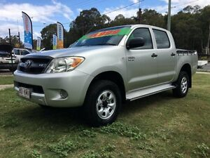2007 Toyota Hilux GGN25R 06 Upgrade SR (4x4) Silver 5 Speed Automatic Clontarf Redcliffe Area Preview