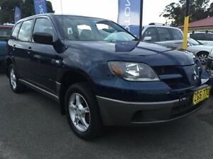2003 Mitsubishi Outlander ZE LS Blue 4 Speed Auto Sports Mode Wagon Cardiff Lake Macquarie Area Preview