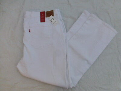 NWT WOMENS LEVIS 414 CLASSIC STRAIGHT JEANS $59 WHITE 23648-0008