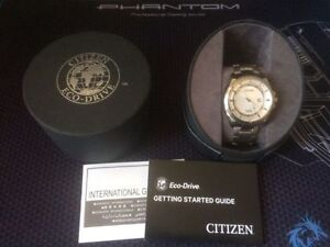 Citizen Eco-Drive Watch Super Titanium/ Sapphire Crystal NEW