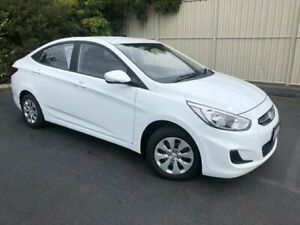 2016 Hyundai Accent RB3 MY16 Active White 6 Speed Constant Variable Sedan Devonport Devonport Area Preview
