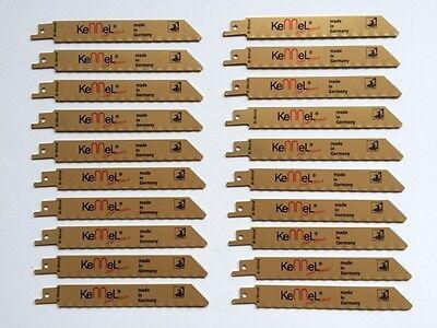 20 x Bi-Metall Säbelsägeblätter Elektro-Fuchsschwanz für Metall  Edelstahl Inox