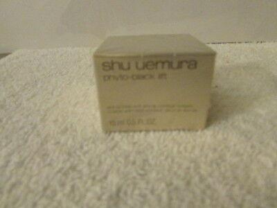 New Shu Uemura PHYTO-BLACK LIFT Anti-Wrinkle Eye & Lip Cream 15ml NIB Sealed
