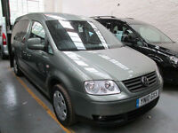 10 VOLKSWAGEN CADDY 1.9TDi WHEELCHAIR ADAPTED 50 + ADAPTED VEHICLES IN STOCK