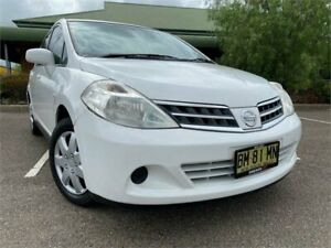 2010 Nissan Tiida C11 MY07 ST-L White 4 Speed Automatic Hatchback Mount Druitt Blacktown Area Preview