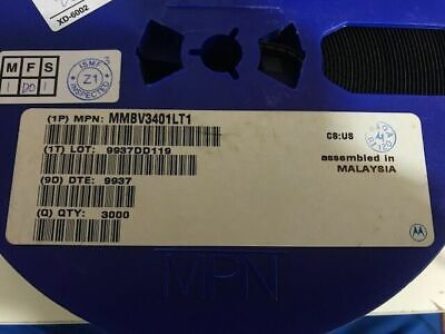 100x Motorola Mmbv3401lt1 Diode Tuning Ss 35v Sot23 Cut Tape
