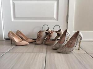 3 paires de chaussures habillées - taille 7
