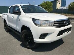 2017 Toyota Hilux GUN126R SR Double Cab White 6 Speed Sports Automatic Utility Arundel Gold Coast City Preview