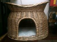 Wicker cat basket for sale