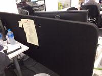 Single IKEA Bekant desk partition black - 3 of 4