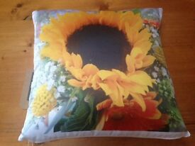NEW CUSHION with original flower design