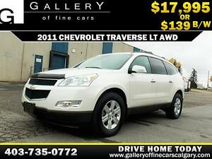 2011 Chevrolet Traverse LT AWD $139 bi-weekl APPLY NOW DRIVE NOW