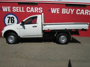 2009 Mitsubishi Triton ML MY09 GLX White 5 Speed Manual Cab Chassis Welshpool Canning Area Preview