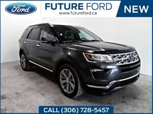 2018 Ford Explorer Limited|2ND ROW CAPTION CHAIRS|CLASS III TRAI