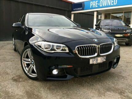 2015 BMW 528I F10 LCI M Sport Steptronic Carbon Black 8 Speed Sports Automatic Sedan