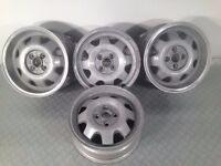"ATS CUP 4X100, 15"" staggered set two 5.5J and two 6J. Deep dish alloy wheels, Made in Germany"