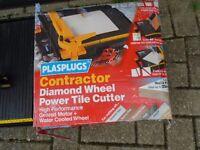 PLASPLUGS CONTRACTOR ELECTRIC TILE CUTTER DIAMOND WHEEL CUTTER