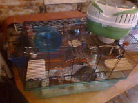complete XL hamster/gerbil/mouse cage setup