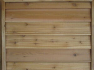 SALE 6' Western Red Cedar Bevel Siding 1x6 1x8 1x10