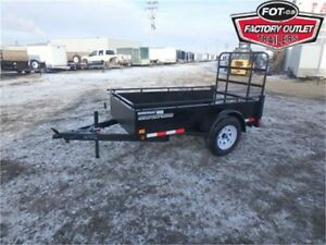 "4 X 8 UTILITY BY CANADA TRAILERS - 15"" RADIAL TIRES, D-RINGS!"