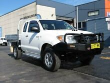 2008 Toyota Hilux KUN26R 08 Upgrade SR (4x4) White 5 Speed Manual Extracab Condell Park Bankstown Area Preview