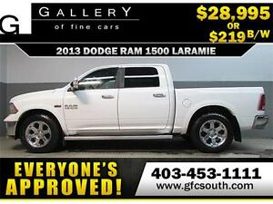 2013 DODGE RAM LARAMIE CREW *EVERYONE APPROVED* $0 DOWN $219/BW!