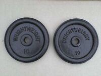 2 x 10 Ib Metal Weights - Heathrow