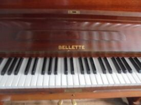 upright piano by bellette neat size