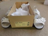 Hotter Enya white leather Size 3 sandals. Worn once. Was £53.99, Bargain £10.