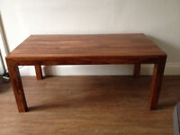 Walnut effect Dining Room Table (Less than year old) Excellent condition (LEITH)