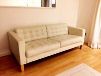 Ikea leather sofa, perfect, practically new, I can deliver it after seeing it has left a deposit