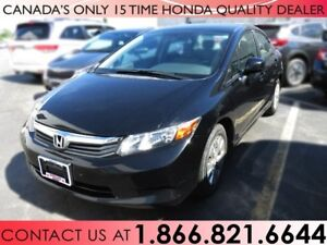 2012 Honda Civic Sdn LX | 1 OWNER | NO ACCIDENTS