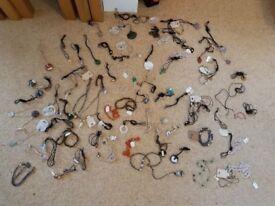 Necklaces x 83 Jewellery Gemstones Shells Bulk Bundle