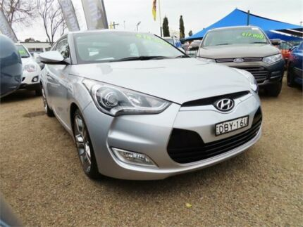 2012 Hyundai Veloster FS2 Coupe D-CT Silver 6 Speed Sports Automatic Dual Clutch Hatchback Minchinbury Blacktown Area Preview