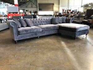 """""""ANGELICO"""" PROVINCIAL VELVET LOUNGE SUITE Epping Whittlesea Area Preview"""