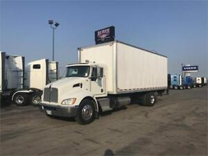 2015 KENWORTH T370 WITH A 24FT DRY VAN & 3,000LN TAILGATE!