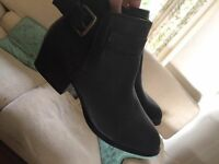 Black ankle Buckle boots