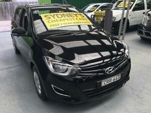 2014 Hyundai i20 PB MY14 Active Black 4 Speed Automatic Hatchback Five Dock Canada Bay Area Preview