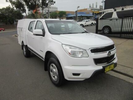 2015 Holden Colorado RG MY15 LS White Auto Sports Mode 4D CAB CHASSIS Croydon Burwood Area Preview