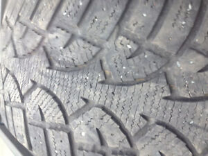 Pair of 235-60-16 winter tires