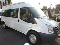 FORD TRANSIT 15 SEAT MINIBUS NORTH LONDON DRIVE WITH NORMAL B LICENCE