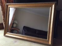 Gold Effect Heavy Picture Frame Mirror