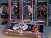 THE MUSICALS COLLECTION # 21-25 BY ORBIS PRERECORDED CASSETTE TAPES