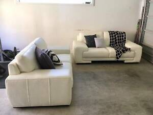 Bay Leather Republic - China White Verona Sofa 2 Seater & 2 Seate Melbourne CBD Melbourne City Preview