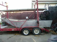Aluminium AIRBOAT with double deck trailer