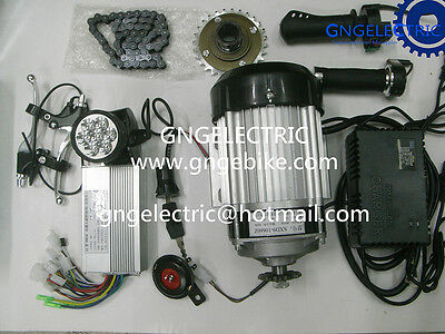 48V 1000W Brushless Electric Motorized E Bike   Car Conversion Kit